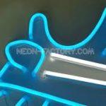 DIY Yeezy blue sneakers hypebeast led neon signs