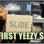Adidas YEEZY Slide Glow Green I Sizing Review & On Feet I Endlich mein erstes Paar Slides #yeezy